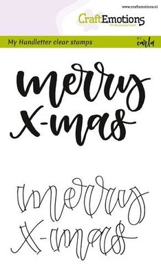 CraftEmotions Clearstamp - Handlettering Merry Xmas