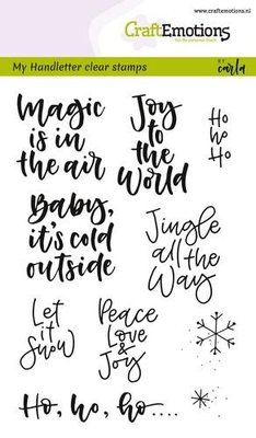 CraftEmotions Clearstamp - Handlettering Xmas small tekst