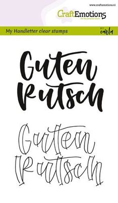 CraftEmotions Clearstamp - Handlettering Guten Rutsch