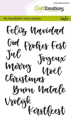 CraftEmotions Clearstamp - Handlettering Kerst
