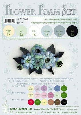 Leane Creatief Flower Foam Assortiment 10 - Zwart, grijs 25.5008