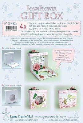 Leane Creatief Flower Foam Gift Boxes - White 25.4803