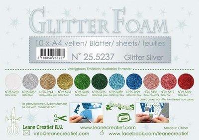Leane Creatief Glitter Foam - Silver 25.5237