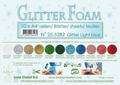 Leane Creatief Glitter Foam - Light Blue 25.5282 OP=OP