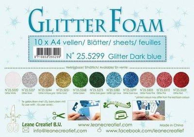 Leane Creatief Glitter Foam - Dark Blue 25.5299
