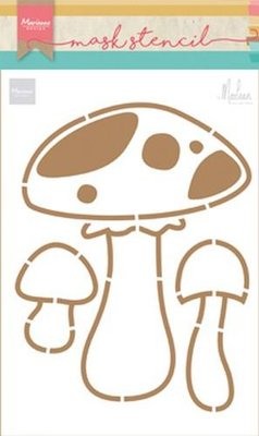 Marianne Design Craft Stencil - Mushrooms PS8015