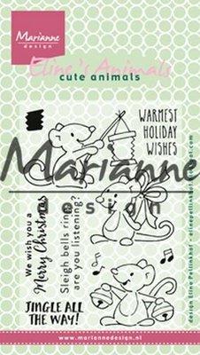 Marianne Design Stempel - Eline's Kerst Muizen EC0174