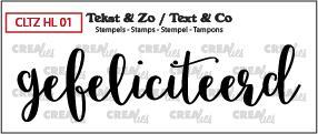 Crealies Stempel Tekst & Zo - Handlettering 1