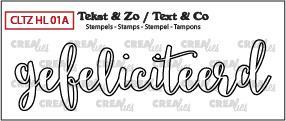 Crealies Stempel Tekst & Zo - Handlettering 1a