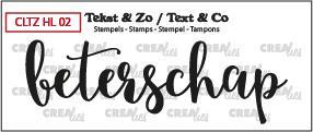 Crealies Stempel Tekst & Zo - Handlettering 2
