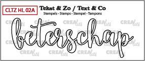 Crealies Stempel Tekst & Zo - Handlettering 2a