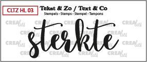 Crealies Stempel Tekst & Zo - Handlettering 3