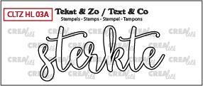 Crealies Stempel Tekst & Zo - Handlettering 3a