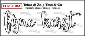 Crealies Stempel Tekst & Zo - Handlettering 4a