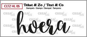 Crealies Stempel Tekst & Zo - Handlettering 5