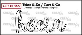Crealies Stempel Tekst & Zo - Handlettering 5a