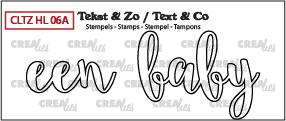 Crealies Stempel Tekst & Zo - Handlettering 6a
