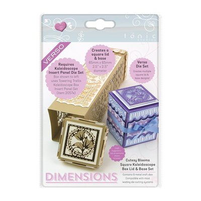 Tonic Studios Die Kaleidoscope Box Lid - Cutesy Bloom Square 2056E OP=OP