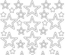 Starform Stickervel - Christmas Stars 3 - Goud 0856.001 OP=OP