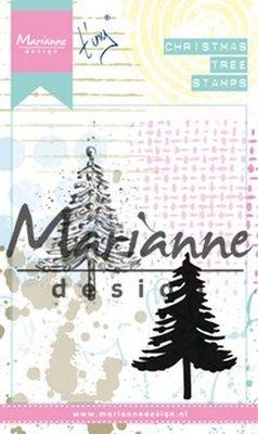 Marianne Design Cling Stempel - Tiny's Kerstboom MM1625 (pre-order)