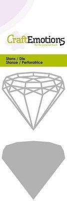 CraftEmotions Die - Diamant draadvorm