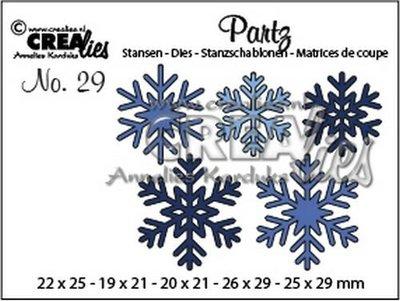 Crealies Partz 29 - Sneeuwvlokken