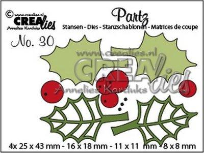 Crealies Partz 30 - Hulstblaadjes