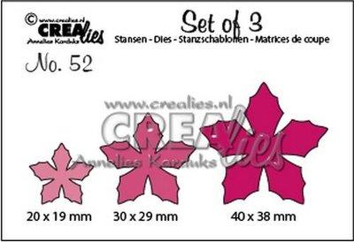 Crealies Set of 3 - 52 - Flowers 23