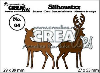 Crealies Silhouetzz  4 - Hertjes