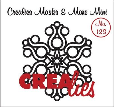 Crealies Masks & More Mini 123 - Snowflake B