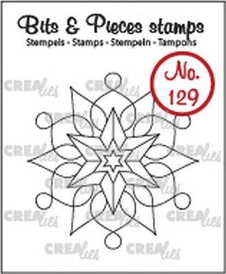 Crealies Bits & Pieces 129 Sneeuwvlok A