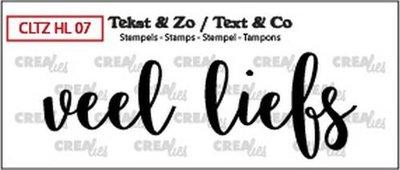 Crealies Stempel Tekst & Zo - Handlettering 7 - Veel liefs