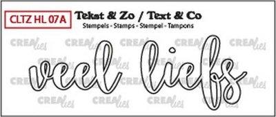 Crealies Stempel Tekst & Zo - Handlettering 7a - Veel liefs