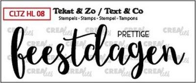 Crealies Stempel Tekst & Zo - Handlettering 8 - Prettige Feestdagen