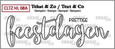 Crealies Stempel Tekst & Zo - Handlettering 8a - Prettige Feestdagen
