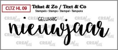 Crealies Stempel Tekst & Zo - Handlettering 9 - Gelukkig nieuwjaar