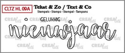 Crealies Stempel Tekst & Zo - Handlettering 9a - Gelukkig nieuwjaar