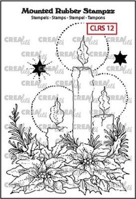 Crealies Mounted Rubber Stampzz 12 - Kaarsen