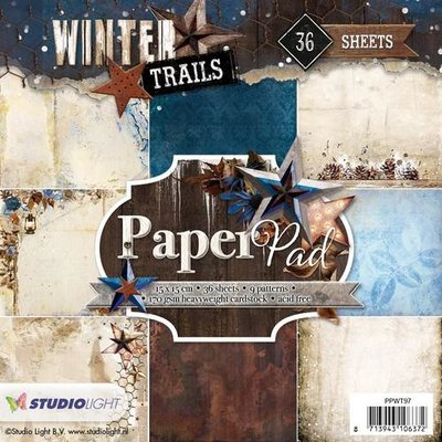 Studio Light Paper Pack 15 x 15 cm - Winter Trails nr. 97 PPWT97 OP=OP