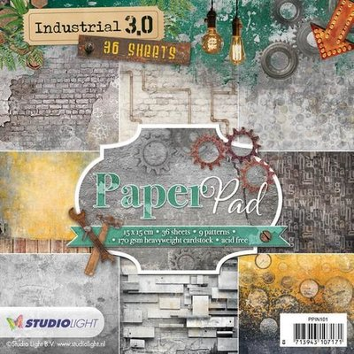 Studio Light Paper Pack 15 x 15 cm - Industrial 3.0 nr. 101 PPIN101 (pre-order)