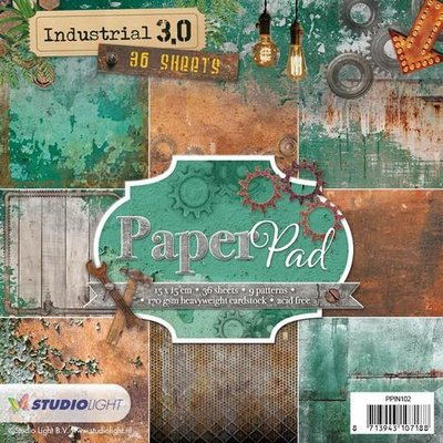 Studio Light Paper Pack 15 x 15 cm - Industrial 3.0 nr. 102 PPIN102 OP=OP