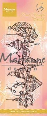 Marianne Design Stempel - Border Kerstballen TC0868 (pre-order)