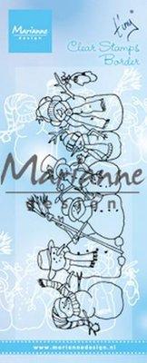 Marianne Design Stempel - Border Sneeuwpoppen TC0869 (pre-order)
