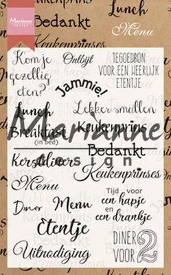 Marianne Design Stempel - Menu CS1015