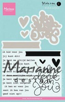 Marianne Design Stempel - Ik denk aan Jou KJ1727 (pre-order)