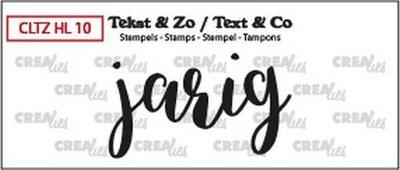 Crealies Stempel Tekst & Zo - Handlettering 10  - Jarig