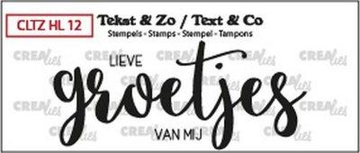 Crealies Stempel Tekst & Zo - Handlettering 12 - Groetjes