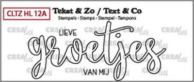 Crealies Stempel Tekst & Zo - Handlettering 12a - Groetjes