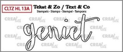 Crealies Stempel Tekst & Zo - Handlettering 13a - Geniet