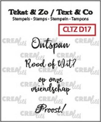 Crealies Stempel Tekst & Zo - Divers 17 - Wijn A